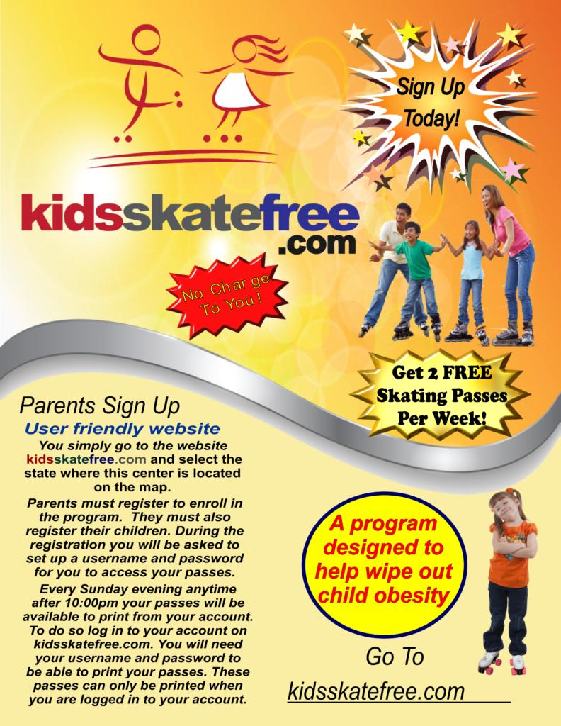 GENRERIC KIDS SKATE FREE